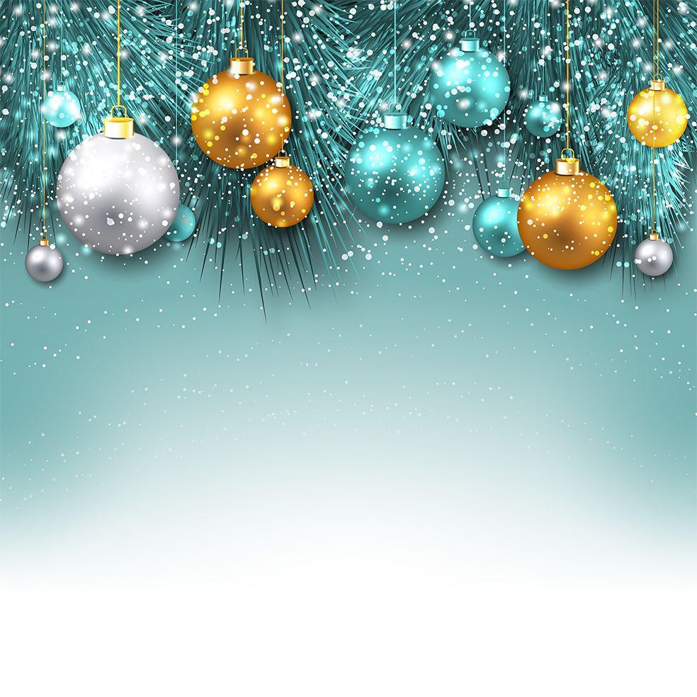 baskılı fon perde altın gümüş noel süsleri ile yılbaşı hediye yeşil