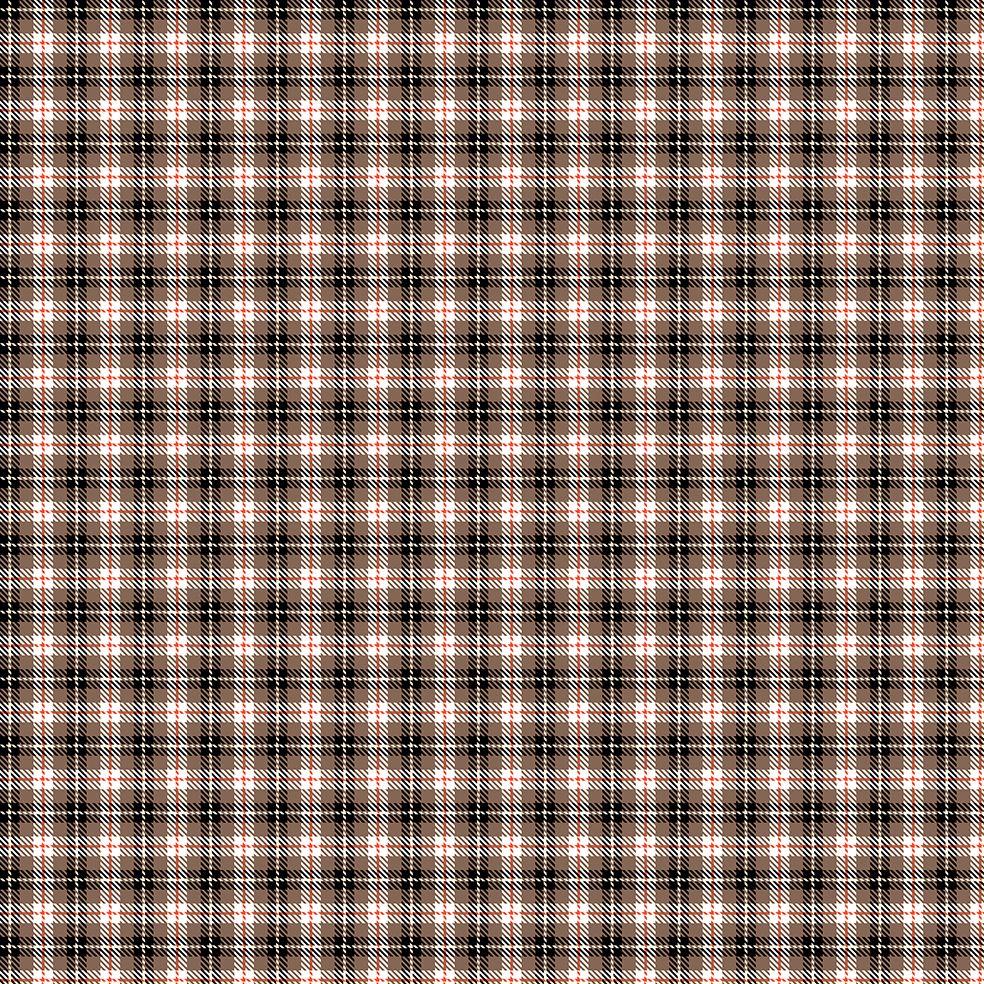 baskılı fon perde bej siyah kırmızı beyaz tartan iskoç ekose desenli
