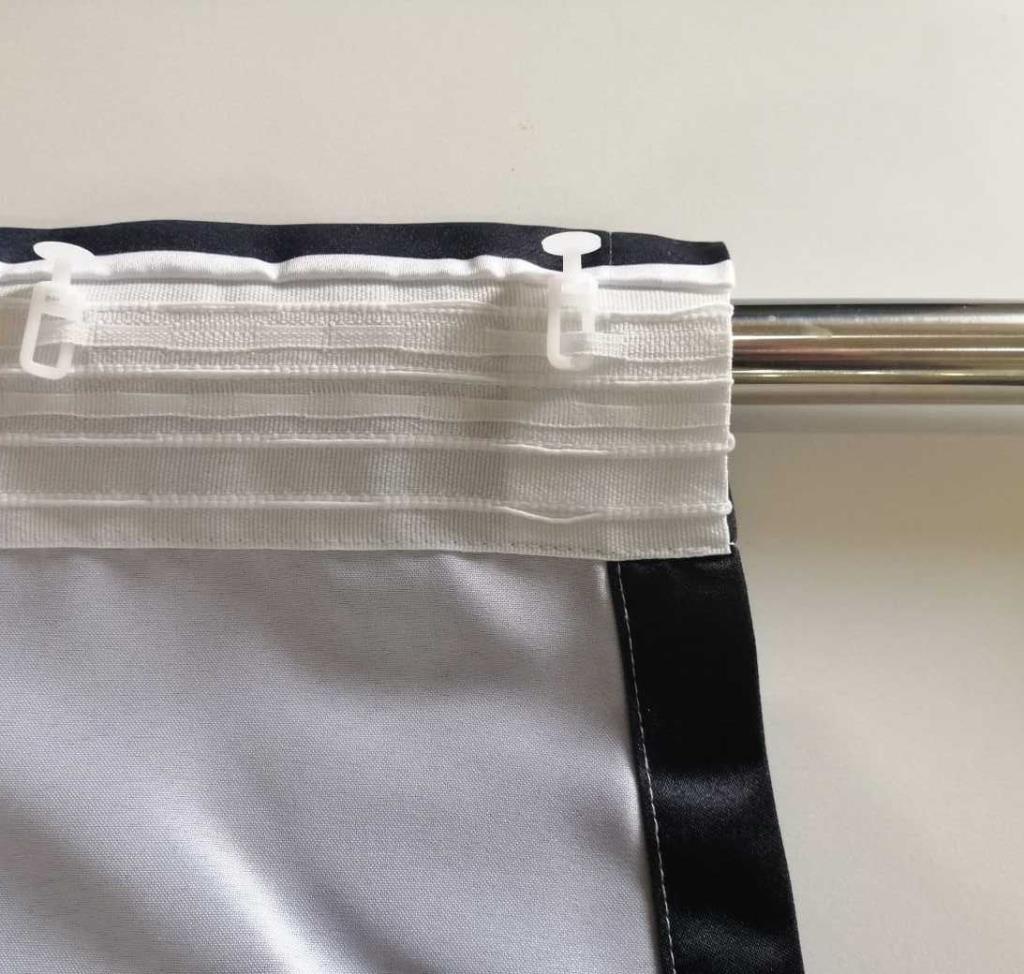 baskılı fon perde cam göbeği siyah beyaz tartan ekose desenli