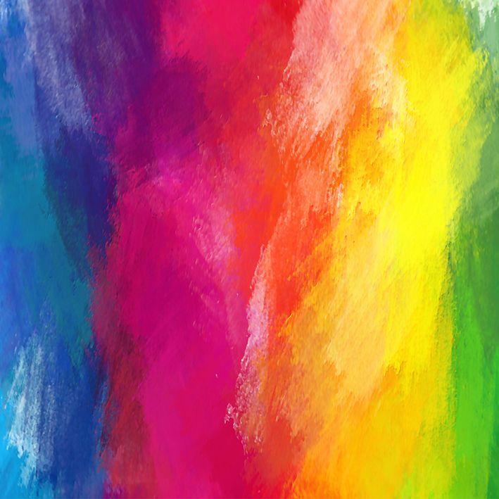 baskılı fon perde çok renkli yağlı boya desenli