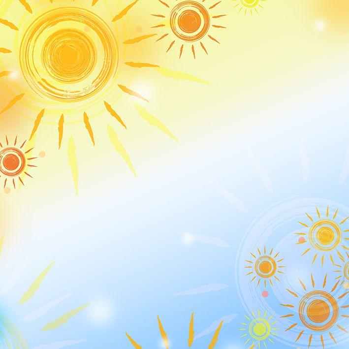 baskılı fon perde gökyüzü güneş boya desenli sarı mavi