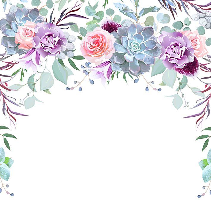 baskılı fon perde gül karanfil okaliptus çiçek desenli
