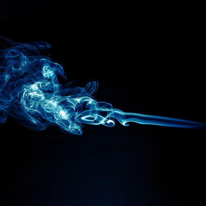 baskılı fon perde ışıldayan duman desenli mavi