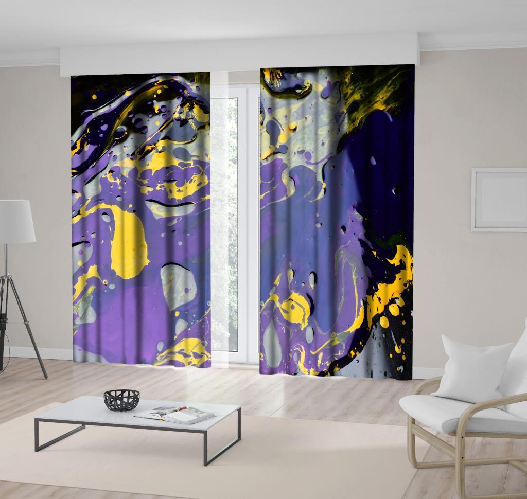 baskılı fon perde karanlık yüzeye sıçramış boya desenli