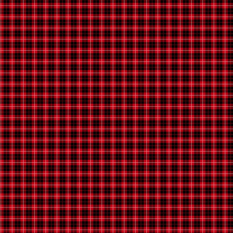 baskılı fon perde kırmızı siyah beyaz çizgili tartan küçük ekose desen