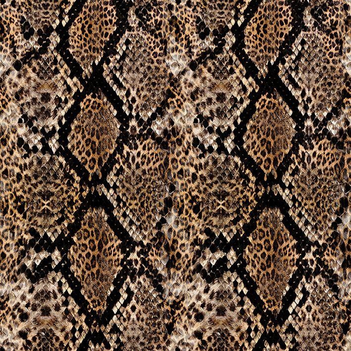 baskılı fon perde leopar etkili yılan derisi desenli