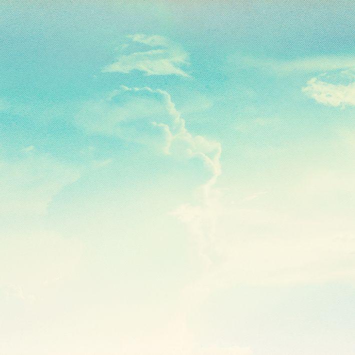 baskılı fon perde mavi gökyüzü bulut desenli