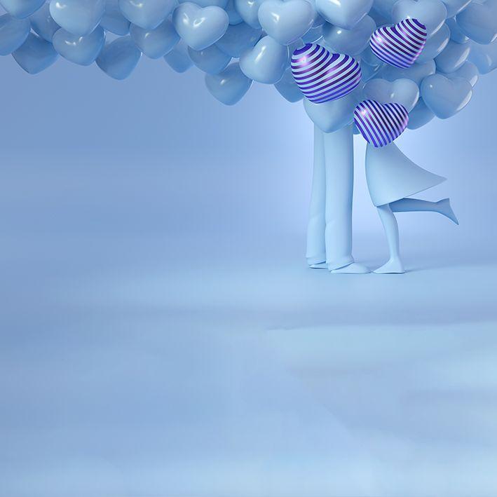 baskılı fon perde mint rengin büyüsüyle en büyük aşk tema desenli