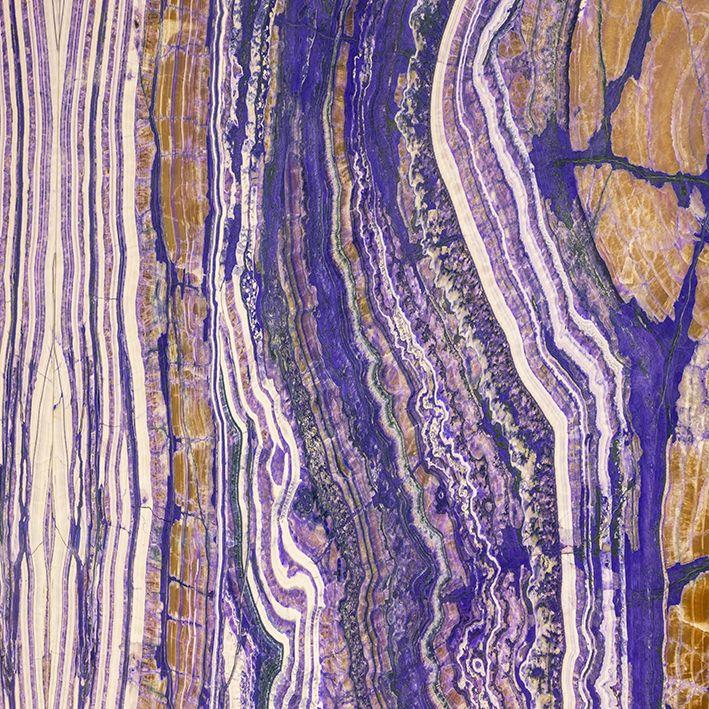 baskılı fon perde mor ve hardal sarısı mozaik desenli