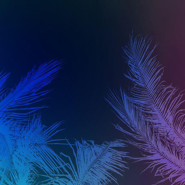 baskılı fon perde mor ve mavi renk tüy desenli