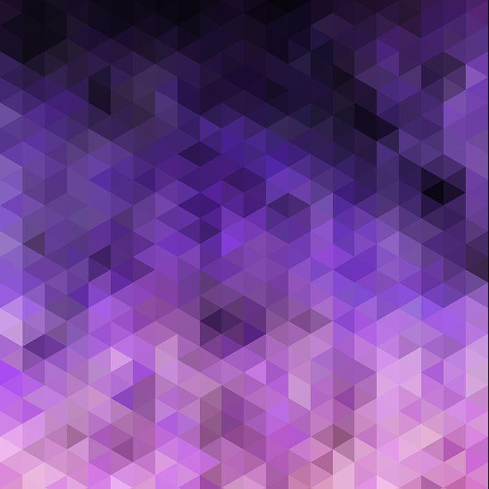 baskılı fon perde mor ve pembe renk etkili geometrik şekil desenli