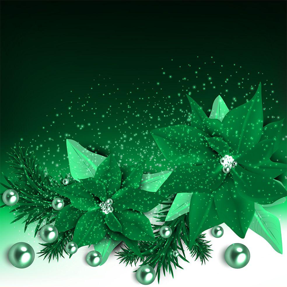 baskılı fon perde noel inciler köknar dalları yılbaşı yeşil kartaneleri