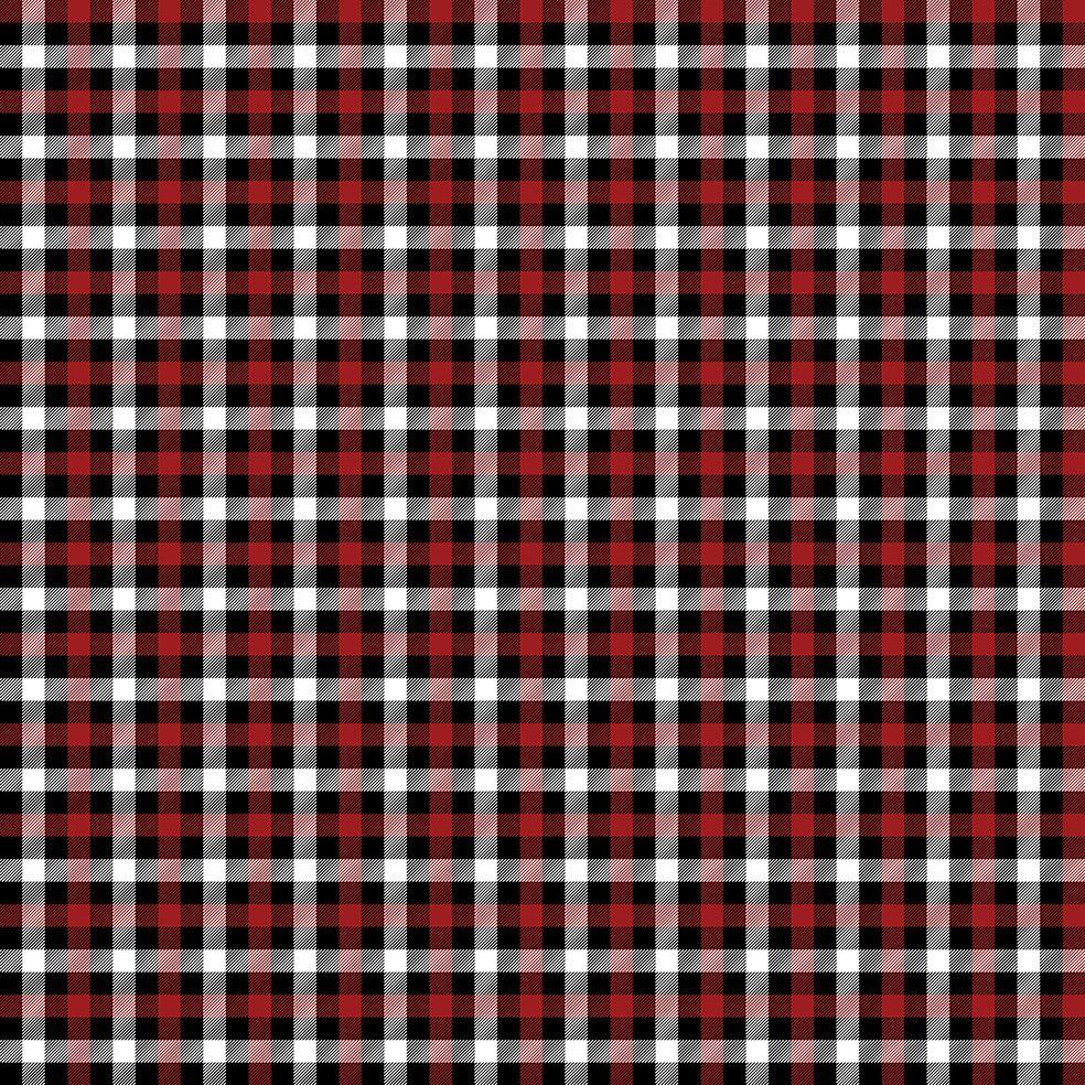 baskılı fon perde noel siyah beyaz kırmızı kare tartan ekose desenli