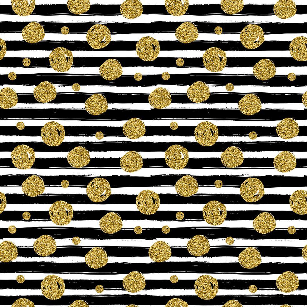 baskılı fon perde noel siyah fıça izleri ile çizgiler altın puantiye