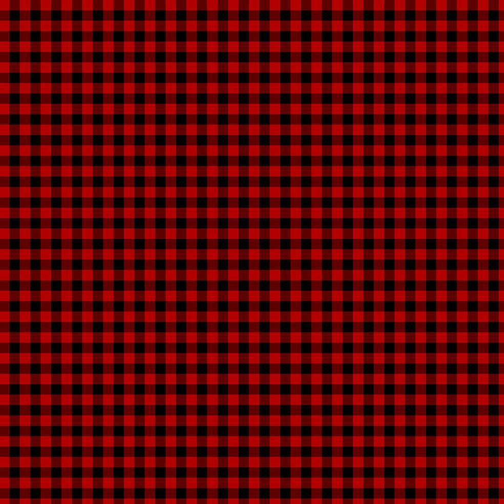 baskılı fon perde noel yılbaşı kırmızı siyah kare ekose desenli
