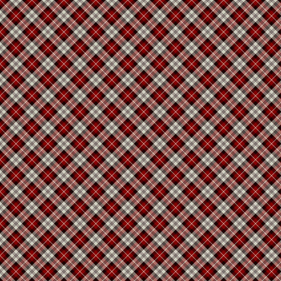 baskılı fon perde noel yılbaşı kırmızı siyah verev ekose desenli
