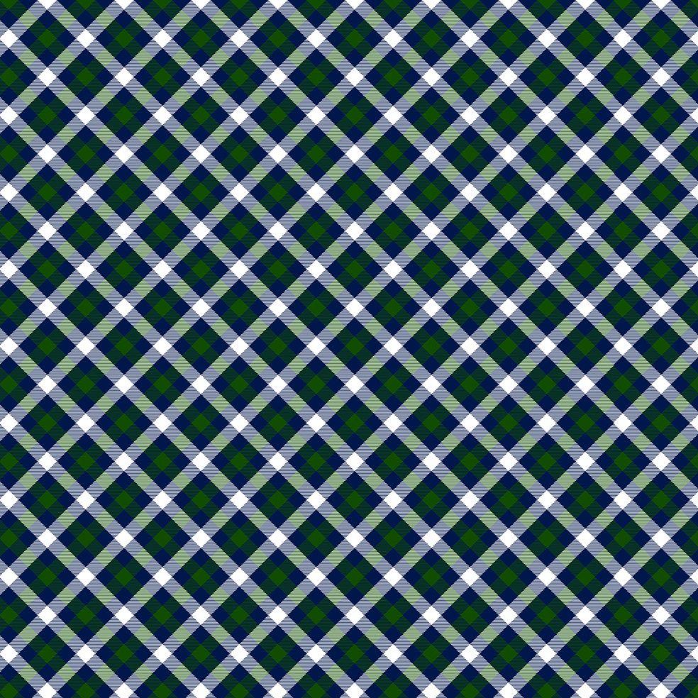baskılı fon perde noel yılbaşı tartan ekose desen yeşil laci beyaz renk