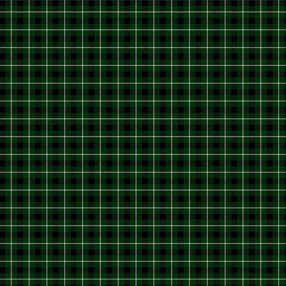 baskılı fon perde noel yılbaşı yeşil siyah beyaz kare ekose desenli