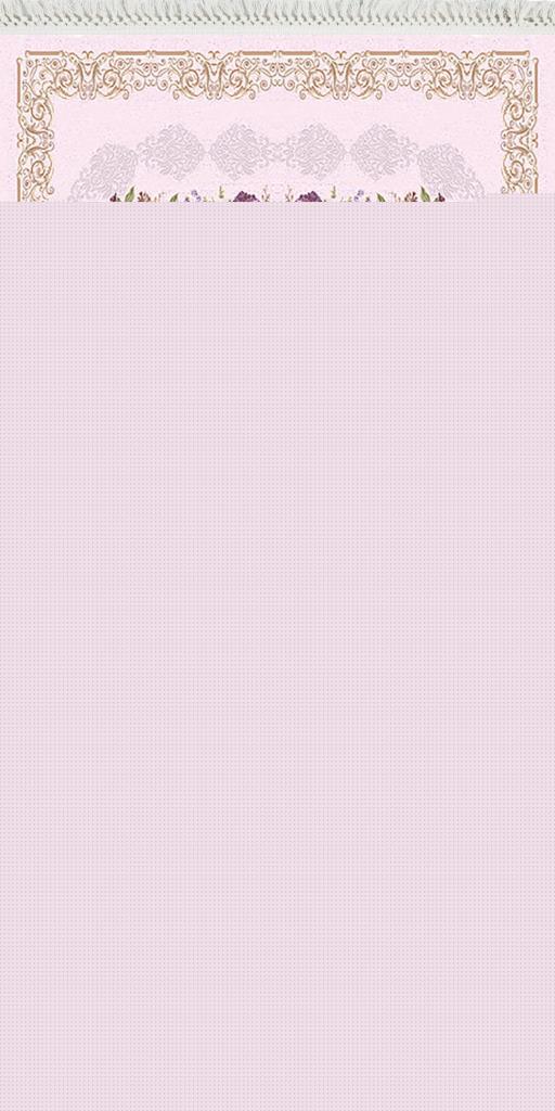 baskılı kilim classic damask çiçekli desen ekru pembe