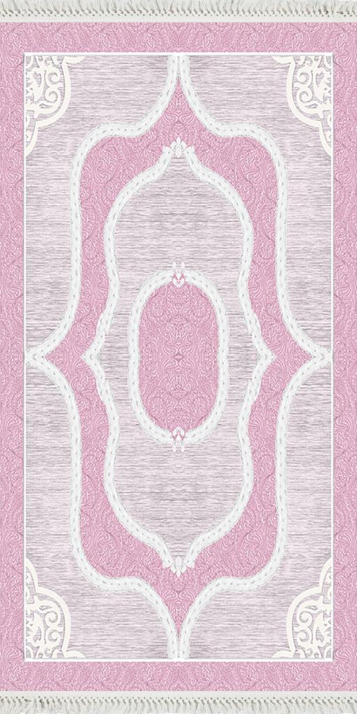 baskılı kilim classic damask desen fuşya renk