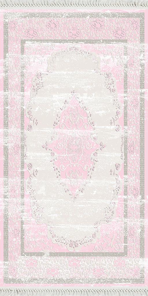 baskılı kilim classic damask desen pudra bej renk
