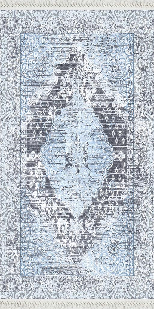 baskılı kilim classic damask eskitme desen laci renk