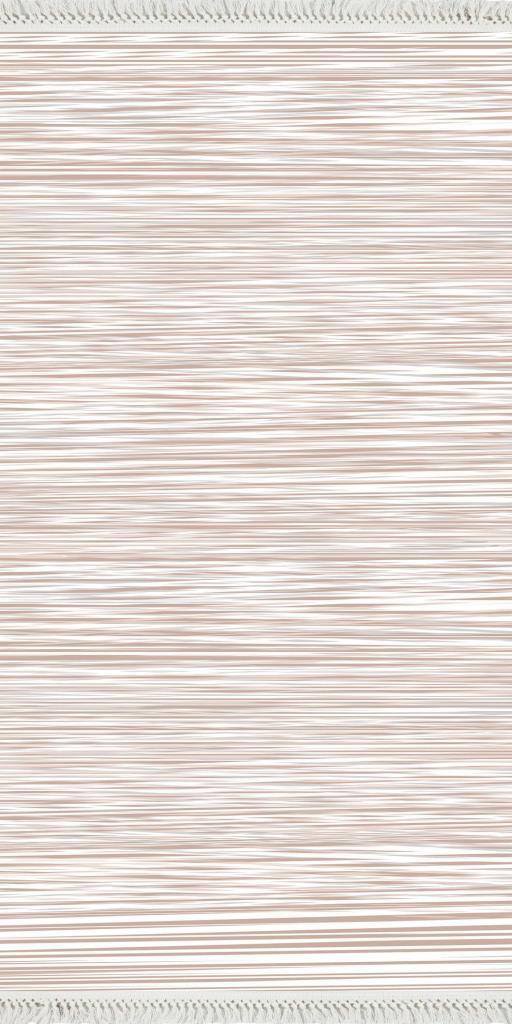 baskılı kilim modern bej somon çizgili