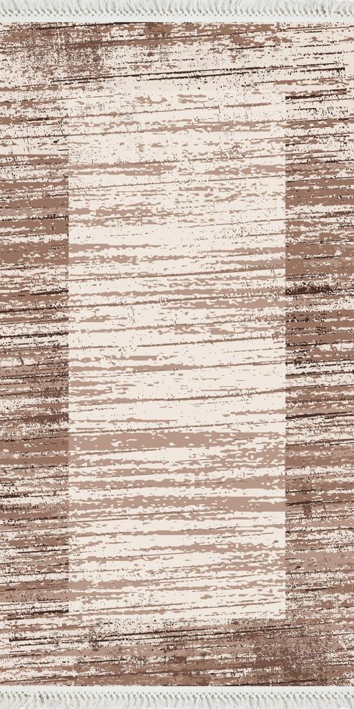 baskılı kilim modern bej kahve rengi çizgili