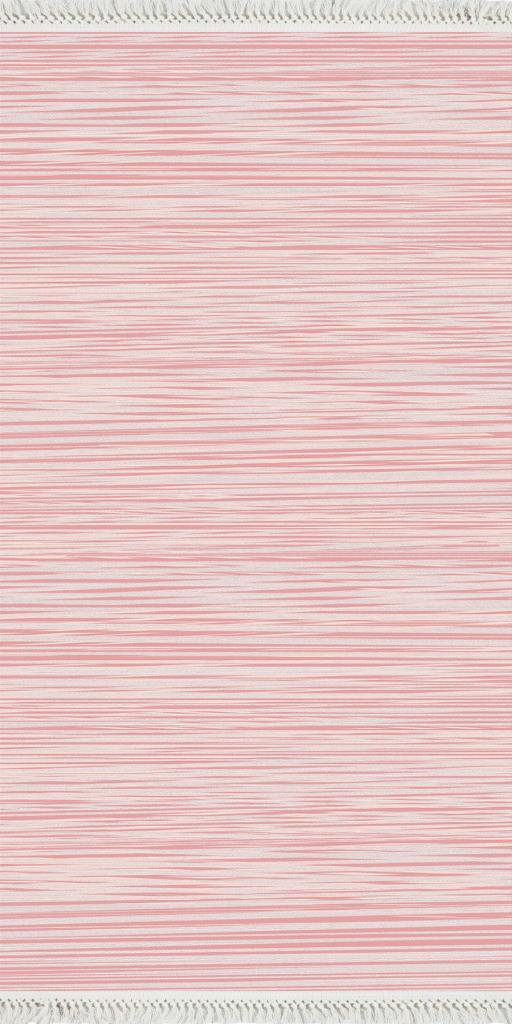 baskılı kilim modern bulanık hareketli çizgili pembe bej