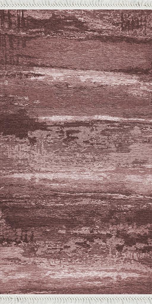 baskılı kilim modern eskitme alacalı desen bordo pembe