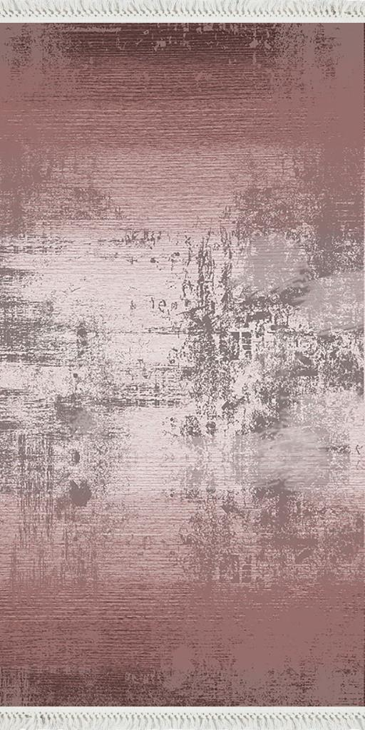 baskılı kilim modern eskitme efektli desen gülkurusu pembe