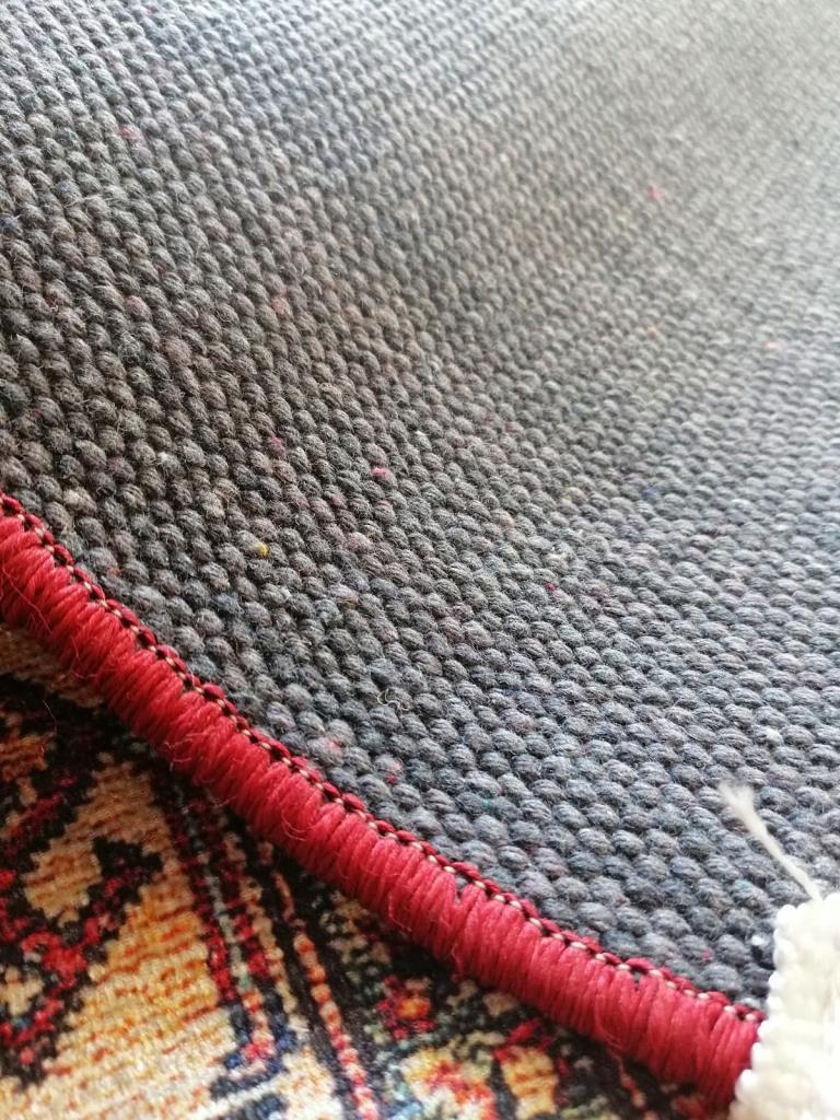 baskılı kilim modern eskitme efektli kırmızı pembe bej