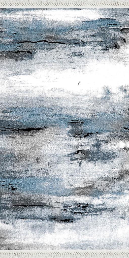 baskılı kilim modern gri mavi bej çizgili