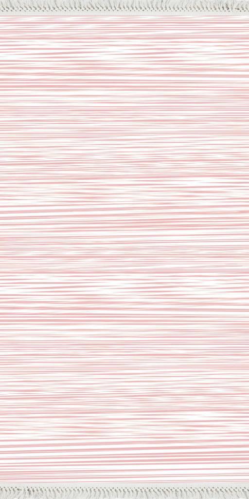 baskılı kilim modern pembe çizgili