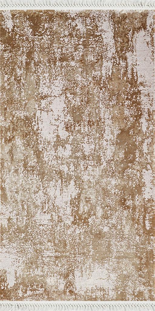 baskılı kilim modern eskitme bej krem renki