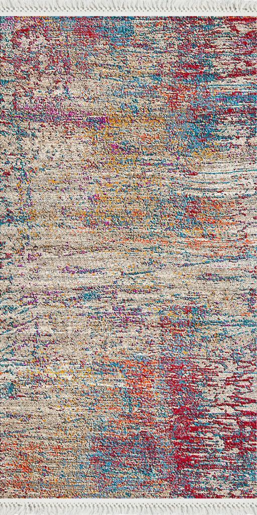baskılı kilim modern eskitme bordo mavi oranj