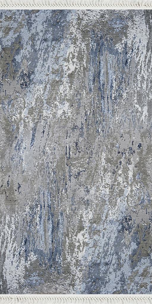 baskılı kilim modern eskitme eskitme laci mavi bej renk