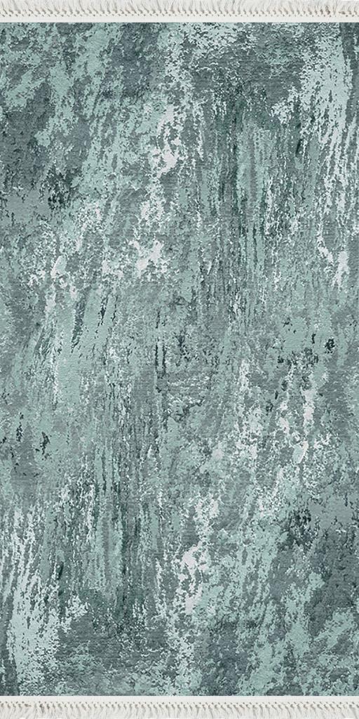 baskılı kilim modern eskitme eskitme yeşil turkuaz renk