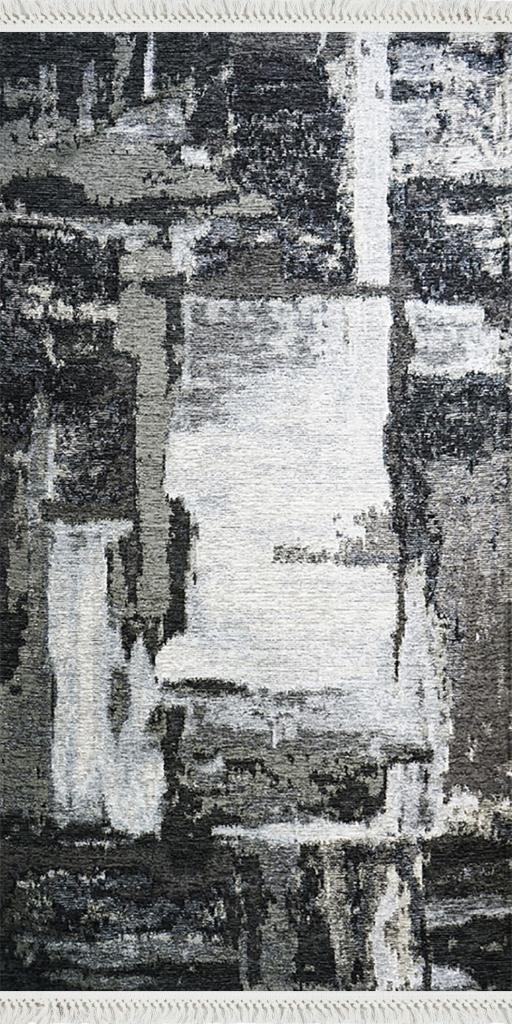 baskılı kilim modern eskitme siyah beyaz bej renkli