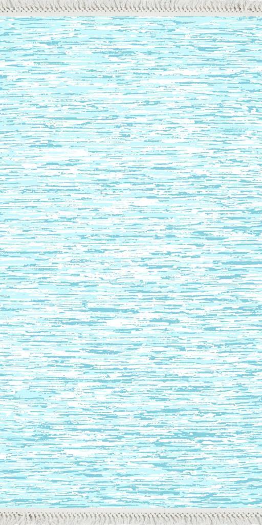 baskılı kilim modern eskitme baskılıfırça desen petrol mavi