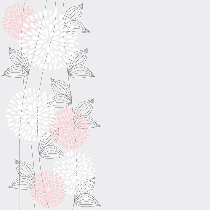 baskılı fon perde renkli çiçek arka plan desenli