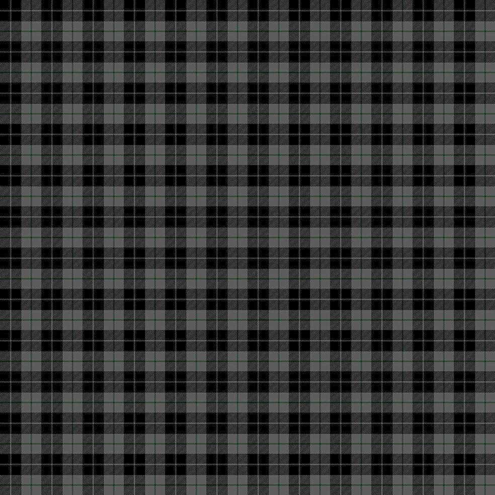 baskılı fon perde siyah gri ince yeşil çizgili tartan ekose desenli