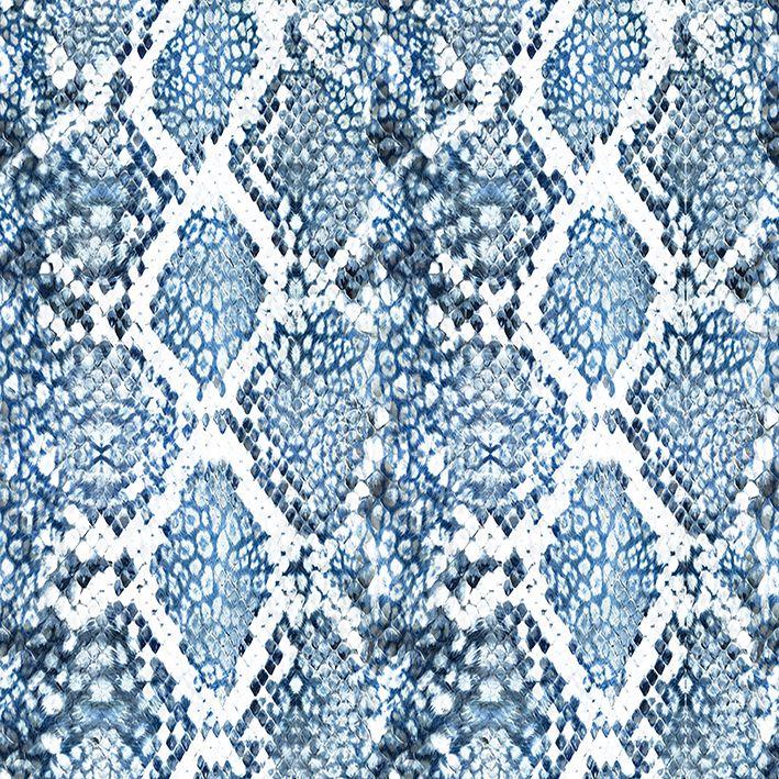 baskılı fon perde sorunsuz mavi yılan desenli