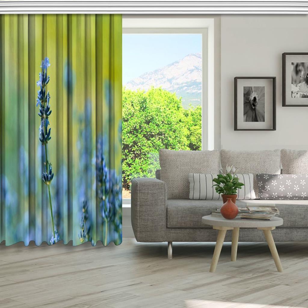 baskılı fon perde soyut arka plan etkili mavi çiçek desenli