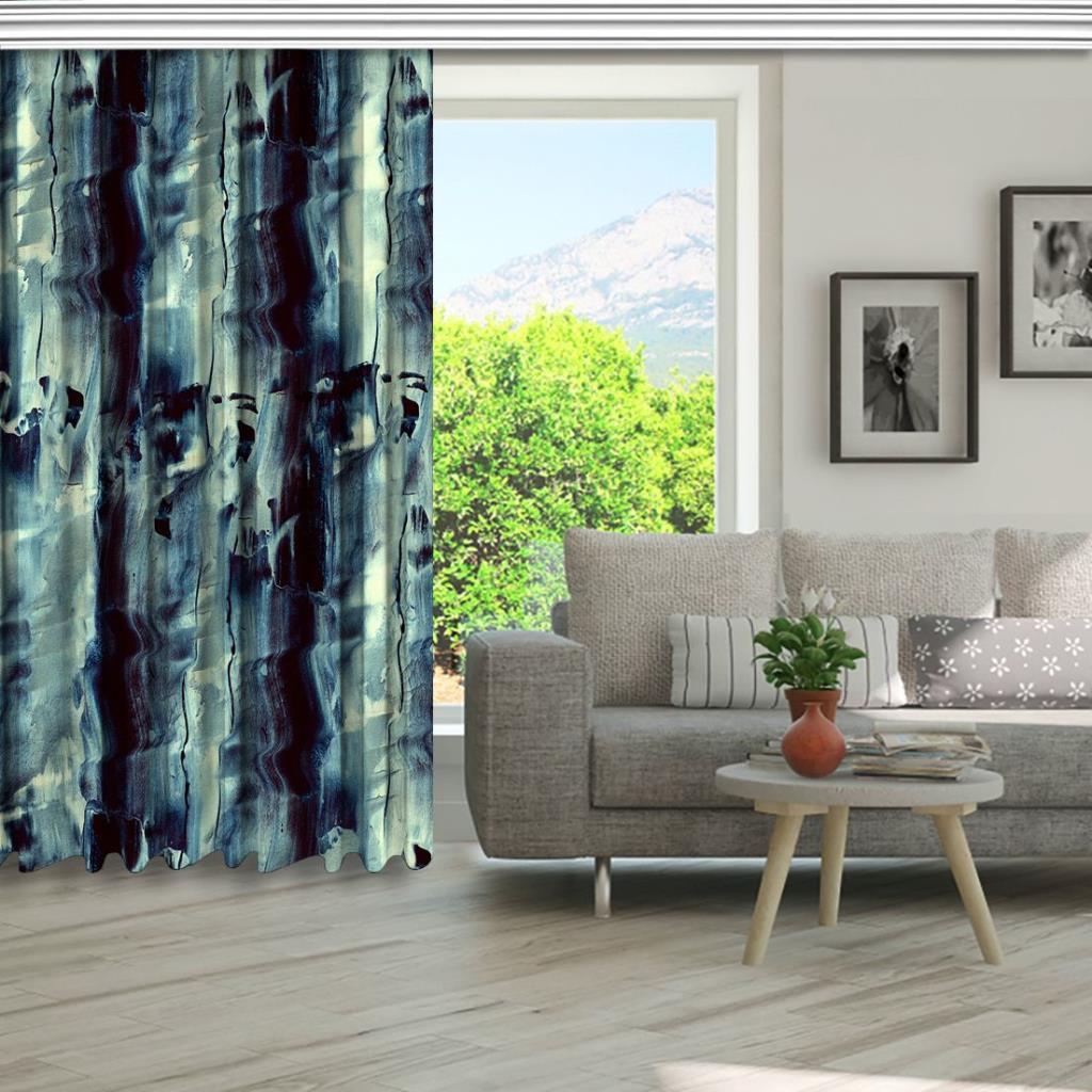 baskılı fon perde soyut modern resim parça desenli