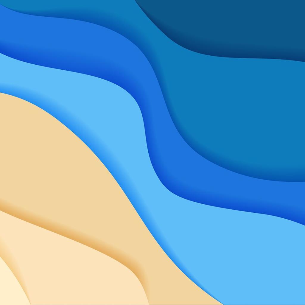 baskılı fon perde soyut sahil kum deniz desenli mavi
