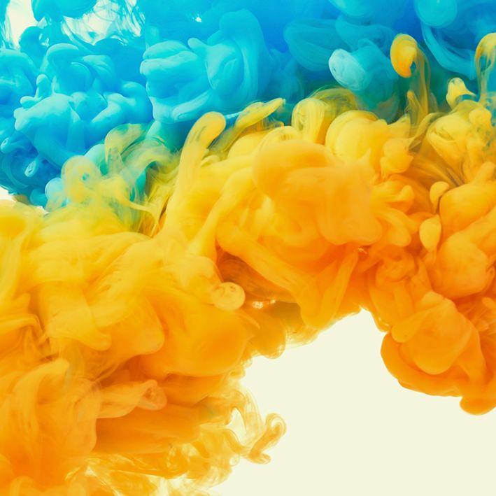 baskılı fon perde su renkli damla desenli