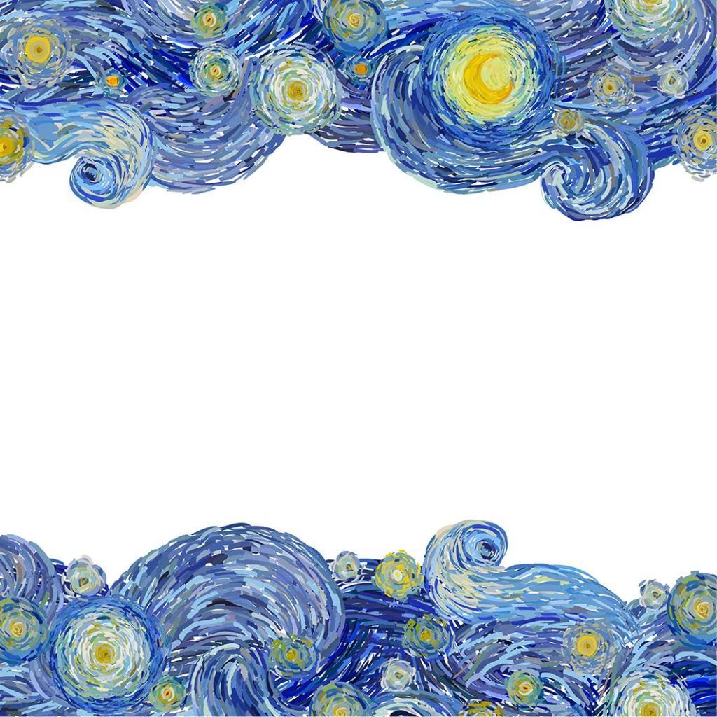 baskılı fon perde sulu boya etkili sarı ay desenli