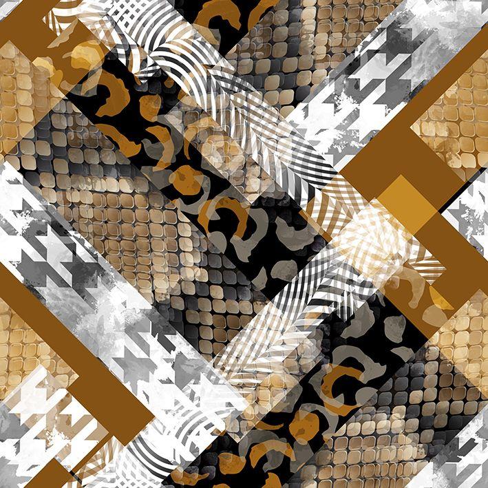 baskılı fon perde sulu boya etkili yılan derisi desenli