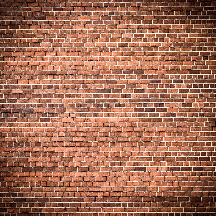 baskılı fon perde turuncu renkli dikdörtgen tuğla duvar desenli
